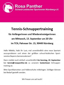 tennis schnuppertraining
